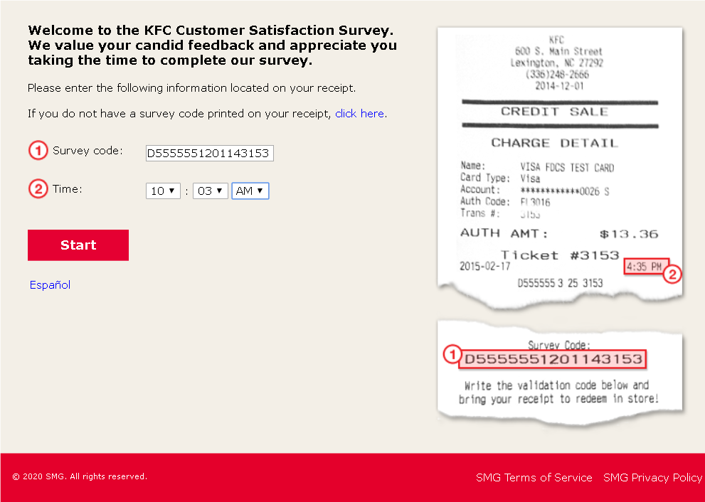 KFC survey & feedback