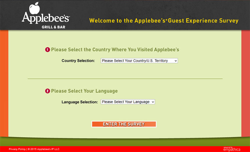 applebee survey